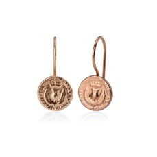 BAWBEE COIN DROP EARRINGS BBE02 - 18ct rose gold vermeil