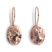 CAMEO DROP EARRINGS CAE02 - 18ct rose gold vermeil