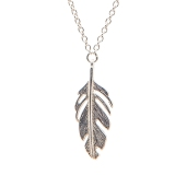 FEATHER NECKLACE BNN05 - sterling silver