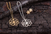 I Love a Lassie - Antique Lace collection - Cobweb Lace Necklaces and Studs