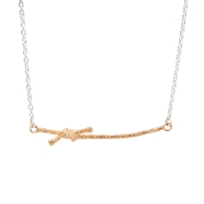KNOTTED NECKLACE STN02 - 18ct yellow gold vermeil