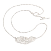 LACE PAISLEY NECKLACE ALN05 - sterling silver 2