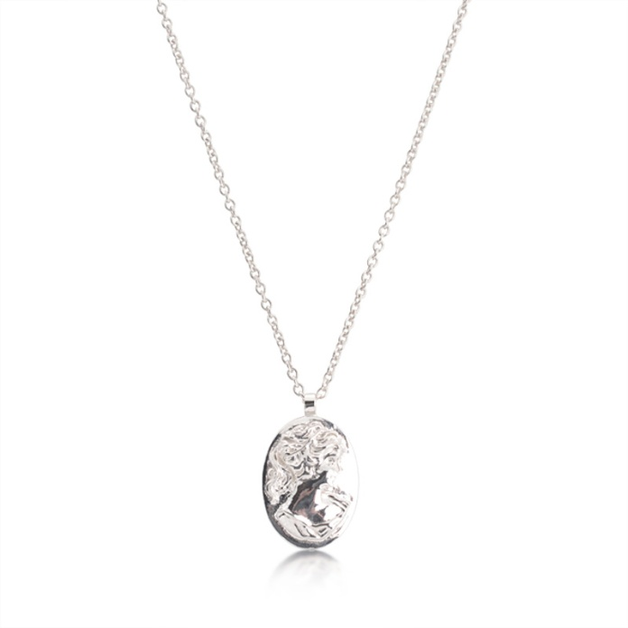 LARGE CAMEO NECKLACE CAN02 - sterling silver
