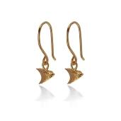 THORN DROP EARRINGS RTE02 - 18ct yellow gold vermeil