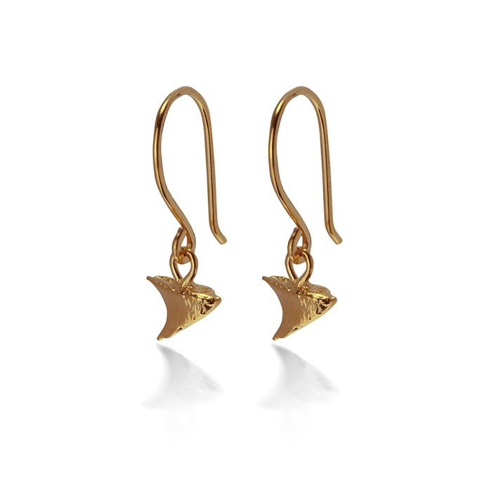 THORN DROP EARRINGS RTE02 - 18ct yellow gold vermeil