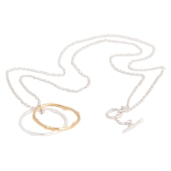 TWIG CIRCLES NECKLACE BNN02 - silver 18ct yellow gold vermeil 2