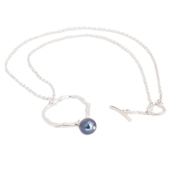 TWIG WITH PEARL NECKLACE BNN04 - sterling silver 2