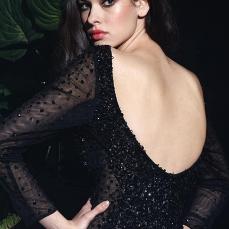 Black-Bateau-Tulle-Sheath-Short-Dresses-3263-1