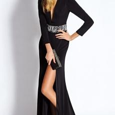 Floor-length-Zipper-Polyester-Mature-Evening-Dresses-6990